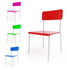 chairs on a white background