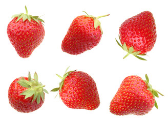 Strawberry berry on white