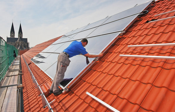 solarzellen solarpanele installation