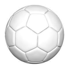 weißer fußball - freigestellt