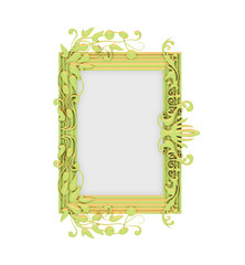 Isolated decorative golden frame