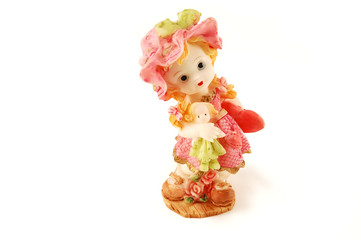 Girl with a Doll. Statuette.