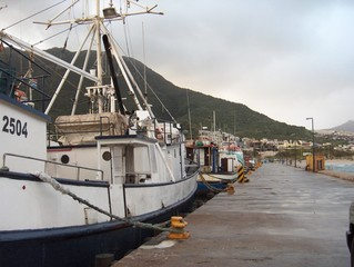 Boats on dock in harbour