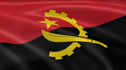 Angolan flag in the wind