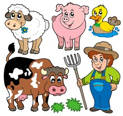 Wall Murals Ranch Farm cartoons collection