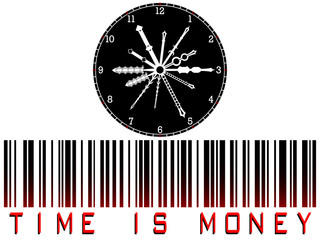 time is money bar code