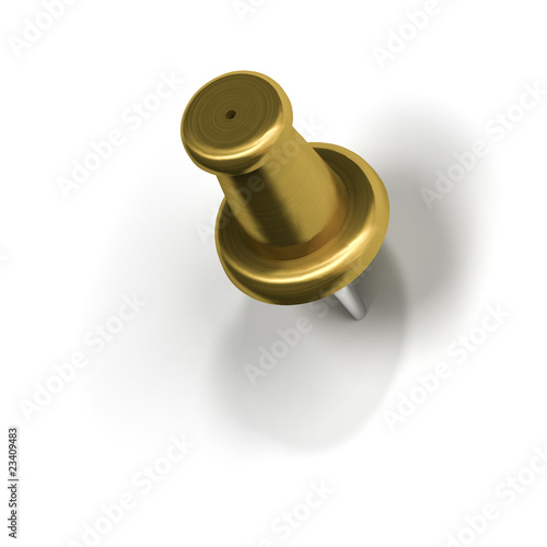 metal pushpin or thumbtack push pin or thumb tack stock photo and