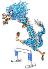 run dragon cartoon