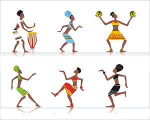 African dancers, vector