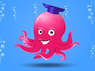 smart octopus on sea