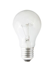 Light bulb isolated with path