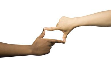 Le cadrage avec les mains