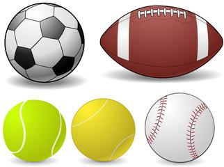 Set of Sports Balls - vector illustrations