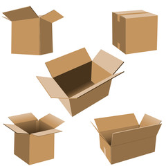 Carboard Boxes Set