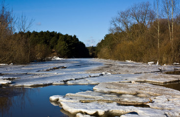 Floe in the river