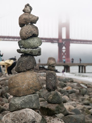 Stone pile by the Golden Gate