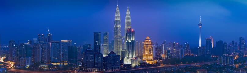 Aluminium Prints Kuala Lumpur panorama, kuala lumpur