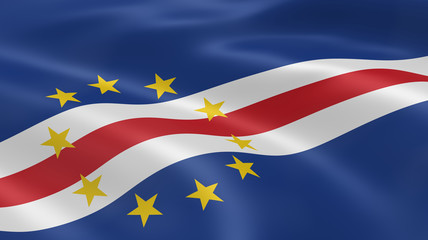 Cape Verdean flag in the wind