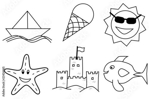 Verano - Dibujos infantiles para colorear\