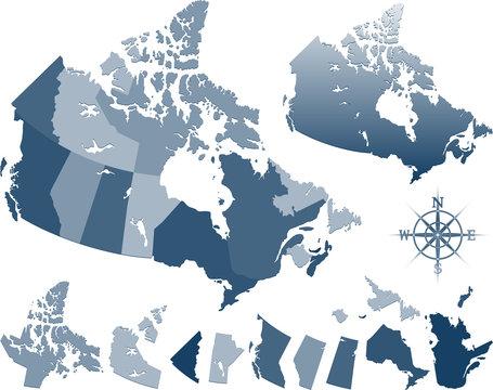 Vector Canada map