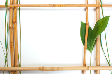 Frame for pictures from bamboo