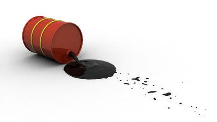 Oil Spill from Barrel