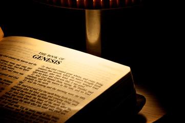 Bible underside of a candlestick