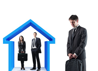businesspeople and house concept