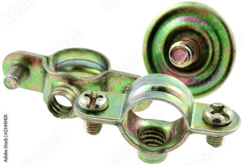 Colliers de fixation tuyaux plomberie fond blanc photo libre de droits sur la banque d 39 images - Collier de fixation plomberie ...