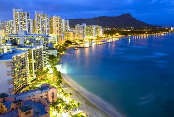 Waikiki  beach in Honolulu, Hawaii.