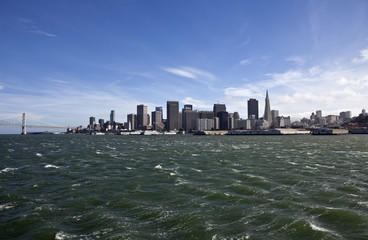 San Francisco Bay with Windy Waves
