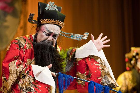 china opera man with long beard