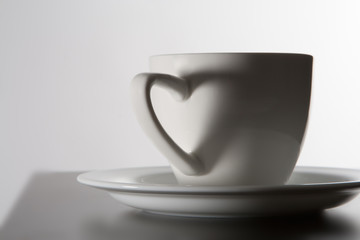 cup coffee in love