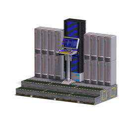 a historic science fiction computer or mainframe. 3D rendering w