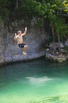 Cliff Jumping Fun
