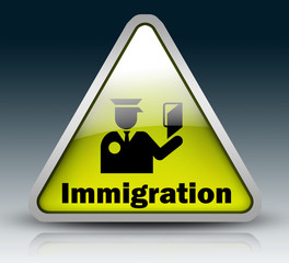 "Glossy 3D Style Sign ""Immigration"""