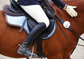 Photo sur Plexiglas Equitation Reitsport Detail - Horse Woman