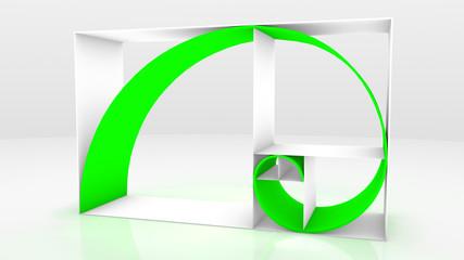 Fibonacci chain 3D