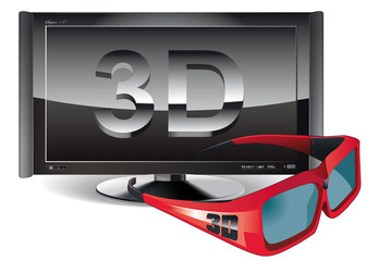 glasses and TV 3D