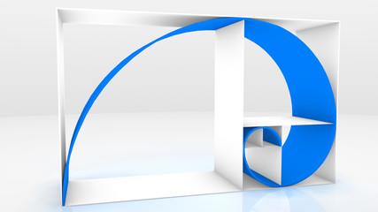 Fibonacci chain 3D Blue