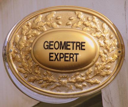 expert, géomètre, plaque, panneau, architecte