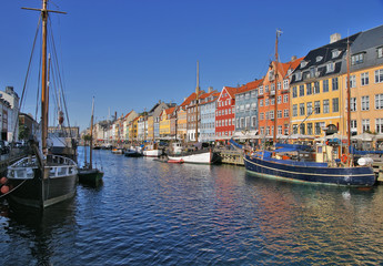 Nyhavn in Copenhagen. Denmark