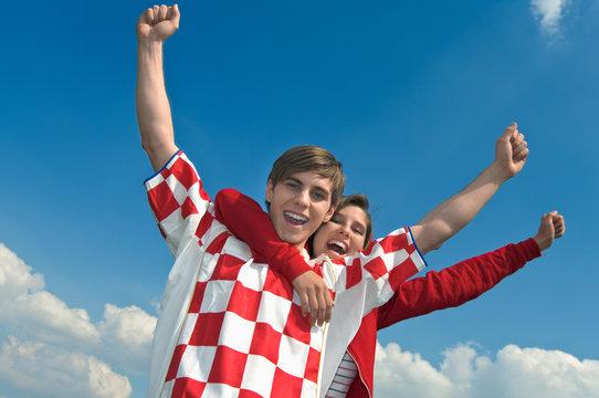 Fußball, fan, Kroatien