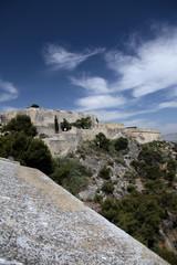 Santa Barbara Castle in Alicante. Spain Coastline