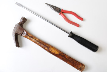 Plyers, Screwdriver, and Hammer