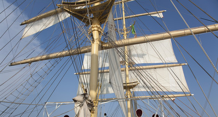 Sails of a yacht