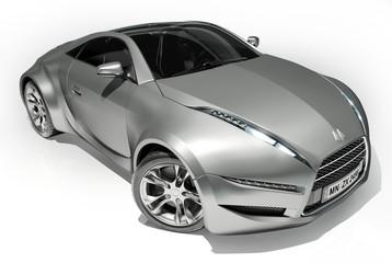 Silver concept car
