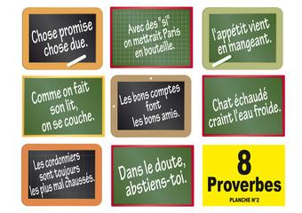 Ardoises x 8 Proverbes