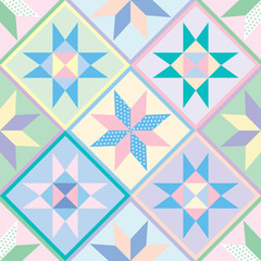 Seamless Patchwork Quilt Pattern