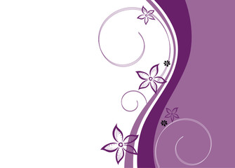 Ranke, floral, filigran, Blumen, Blüten, abstrakt
